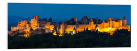 Tableau en PVC  France - Castle Carcassone - Tobias Richter
