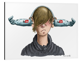 Alu-Dibond  You Tube Boy - Marian Kamensky