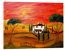 Verre acrylique  Warmth of Tuscany - Christine Huwer
