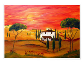 Poster  Warmth of Tuscany - Christine Huwer