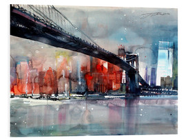 Tableau en PVC  New York, pont de Brooklyn IV - Johann Pickl