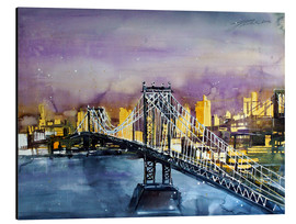 Tableau en aluminium  New York, Manhattan Bridge - Johann Pickl