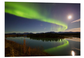 Tableau en PVC  Aurora Borealis over the Yukon River - Joseph Bradley