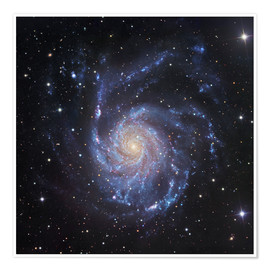 Poster M101, The Pinwheel Galaxy in Ursa Major