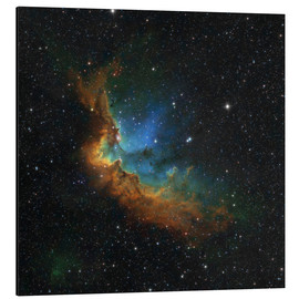 Tableau en aluminium  NGC 7380 in the Hubble palette colors - Rolf Geissinger