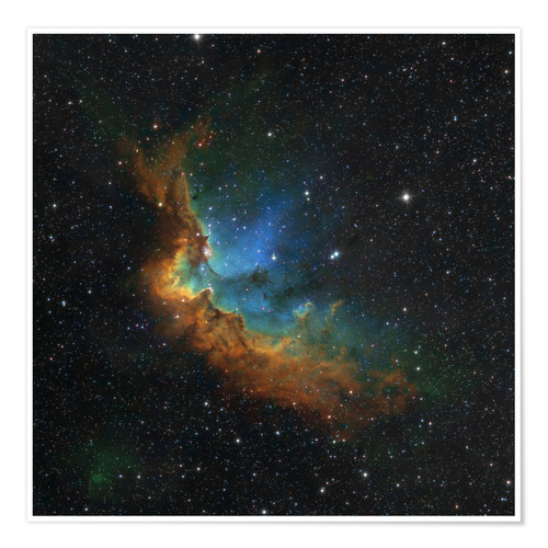 Poster NGC 7380 in the Hubble palette colors