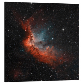 Tableau en aluminium  NGC 7380 in true colors. - Rolf Geissinger