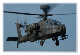Poster A U.S. Army AH-64 Apache helicopter.