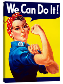 Tableau sur toile  Rosie the Riveter, We can do it ! - John Parrot