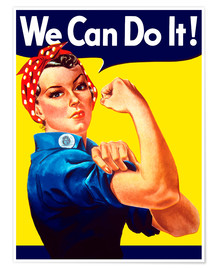 Poster  Rosie the Riveter, We can do it ! - John Parrot