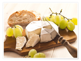 Poster  Cheese and grapes - Edith Albuschat