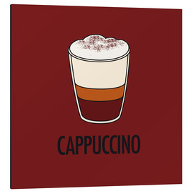 Tableau en aluminium  Cappuccino, for the italian lover in you! - JASMIN!