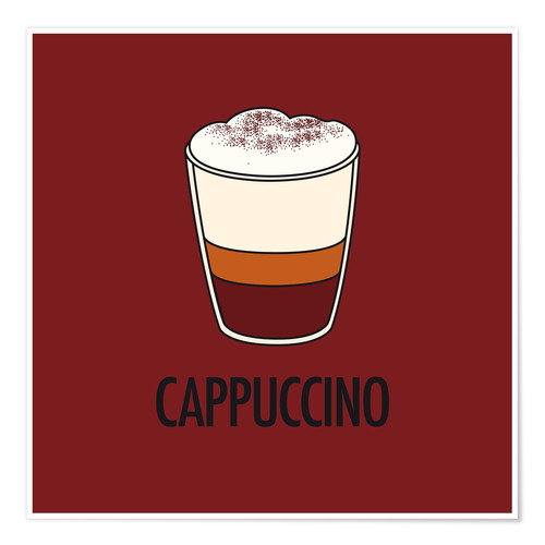 Poster Cappuccino, for the italian lover in you!