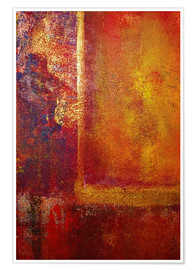 Poster Color Fields 'Red Orange Yellow Gold'