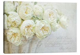 Toile  Roses blanches - Lizzy Pe