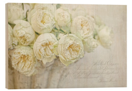 Bois  Roses blanches - Lizzy Pe
