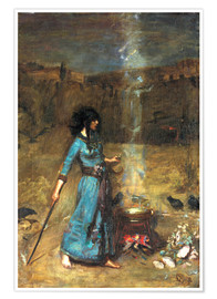 Poster  Le Cercle magique - John William Waterhouse
