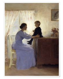 Poster  Mother and Child - Peter Vilhelm Ilsted