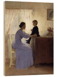 Tableau en bois  Mother and Child - Peter Vilhelm Ilsted