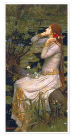Poster  Ophélie - John William Waterhouse