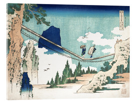 Verre acrylique  Minister Toru, from the series Poems of China and Japan - Katsushika Hokusai