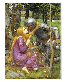 Poster  Une étude pour La Belle Dame sans Merci - John William Waterhouse
