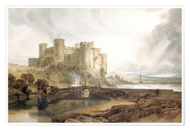 Poster  Château de Conwy, vers 1802 - Joseph Mallord William Turner