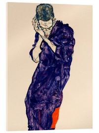 Verre acrylique  Youth with violet frock - Egon Schiele