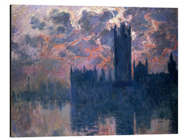 Tableau en aluminium  Le Parlement, soleil couchant - Claude Monet