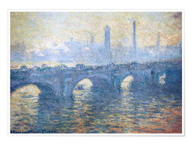 Poster  Pont de Waterloo - Claude Monet