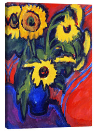 Tableau sur toile  Sunflowers - Ernst Ludwig Kirchner