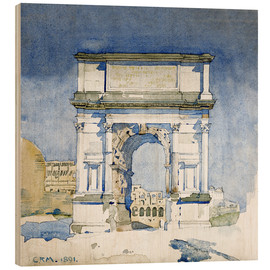 Tableau en bois  Arc de Titus à Rome - Charles Rennie Mackintosh