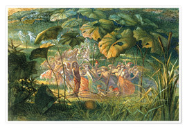 Poster  Fairy Dance in a Clearing - Richard Doyle