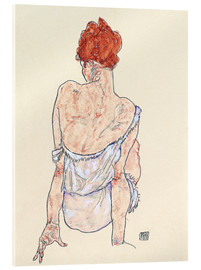 Verre acrylique  Female back - Egon Schiele