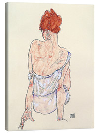 Toile  Female back - Egon Schiele