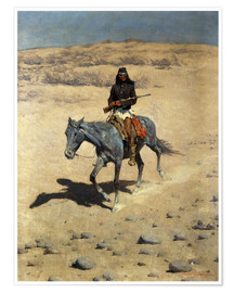 Poster  Apache Indien - Frederic Remington
