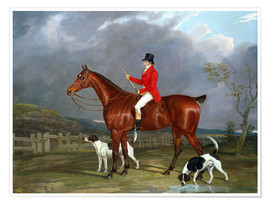 Poster A Huntsman and Hounds, 1824
