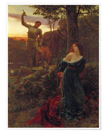 Poster  Chivalry, 1885 - Sir Frank Dicksee