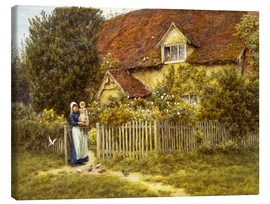 Tableau sur toile  Mother and child on lodge - Helen Allingham