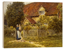 Bois  Mother and child on lodge - Helen Allingham