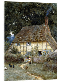 Verre acrylique  On the Brook Road, near Witley - Helen Allingham