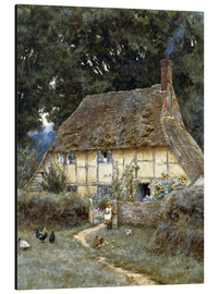 Alu-Dibond  On the Brook Road, near Witley - Helen Allingham