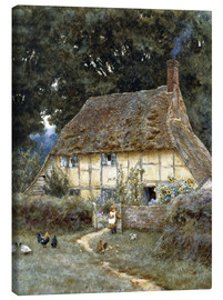 Tableau sur toile  On the Brook Road, near Witley - Helen Allingham