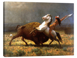 Tableau sur toile  The Last of the Buffalos - Albert Bierstadt