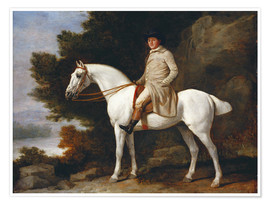 Poster Gentleman on a Grey Horse