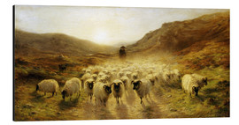 Tableau en aluminium  Leaving the Hills - Joseph Farquharson