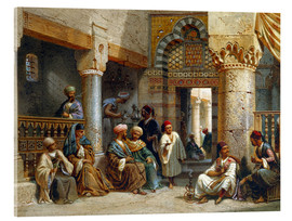 Carl Friedrich Heinrich Werner - Arabic Figures in a Coffee House