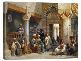 Tableau sur toile  Arabic Figures in a Coffee House - Carl Friedrich Heinrich Werner