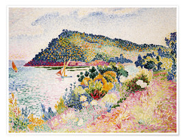 Poster  The Black Cape, Pramousquier Bay - Henri Edmond Cross