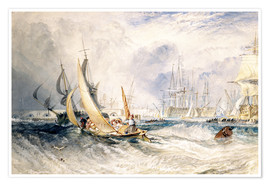 Poster  Gosport: The Entrance to Portsmouth Harbour - Joseph Mallord William Turner